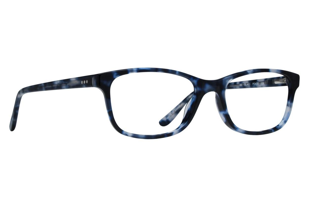 One Love Petite Peace Blue Eyeglasses