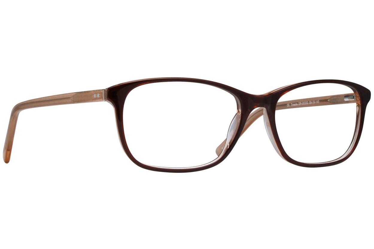 Dea Extended Size Trieste Brown Eyeglasses