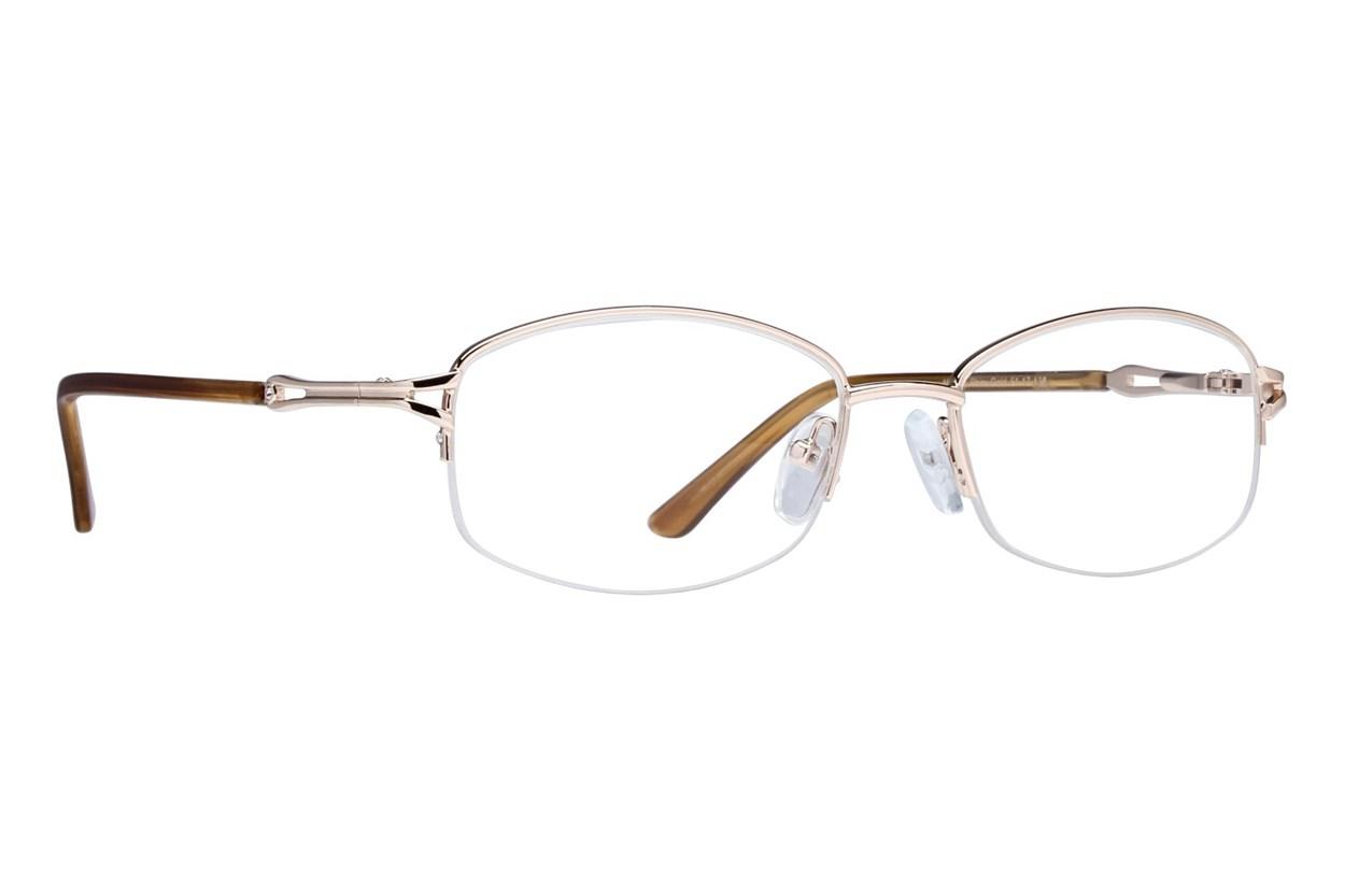 Lunettos Mandy Gold Eyeglasses