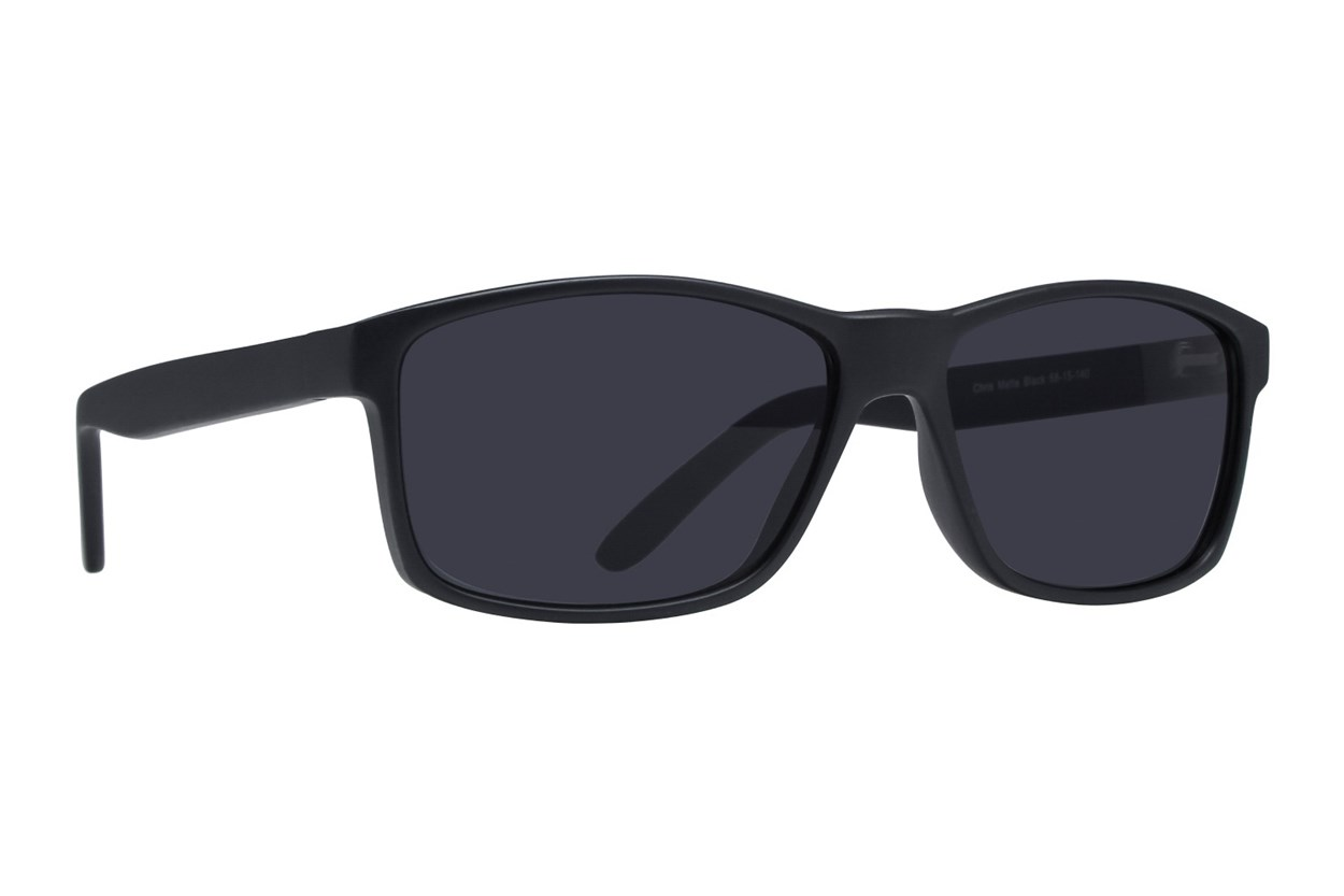 Lunettos Chris Black Sunglasses