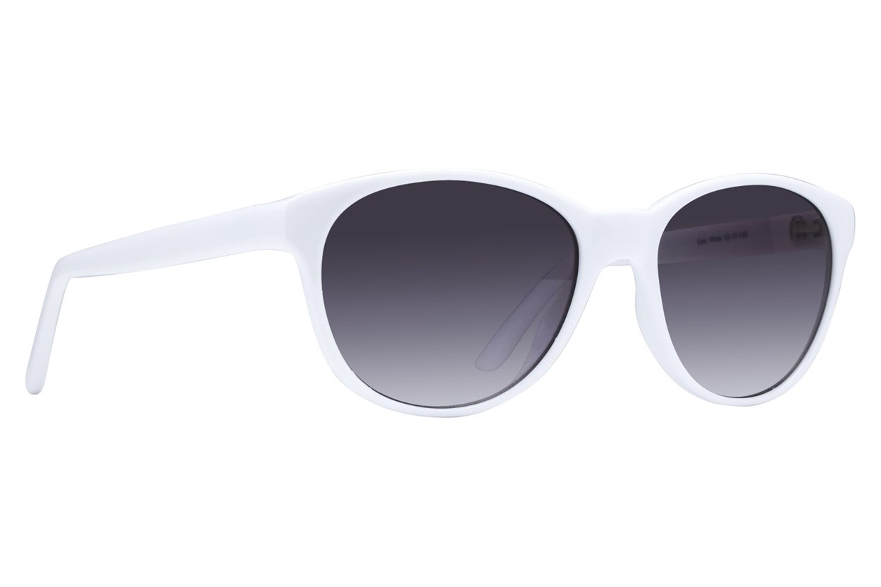 Lunettos Cate White Sunglasses