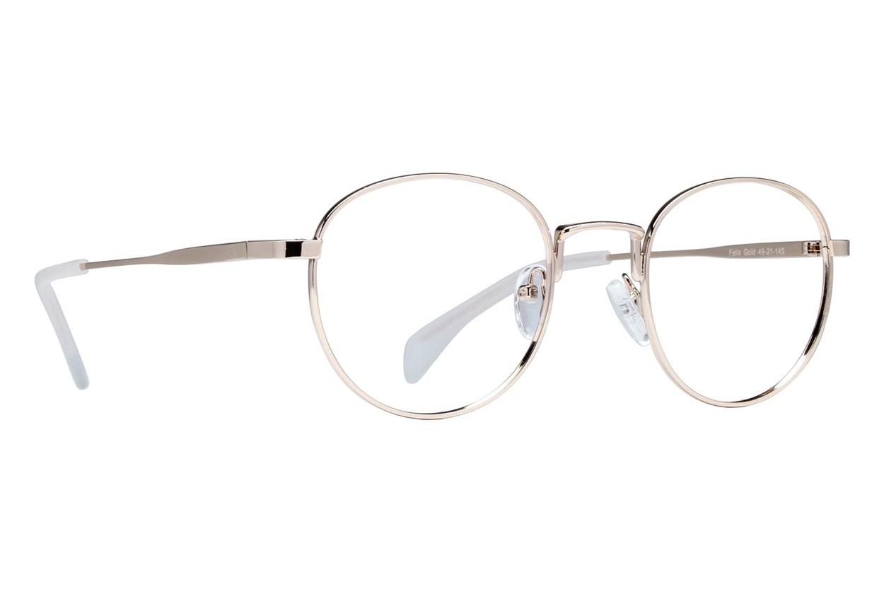 Lunettos Felix Gold Eyeglasses
