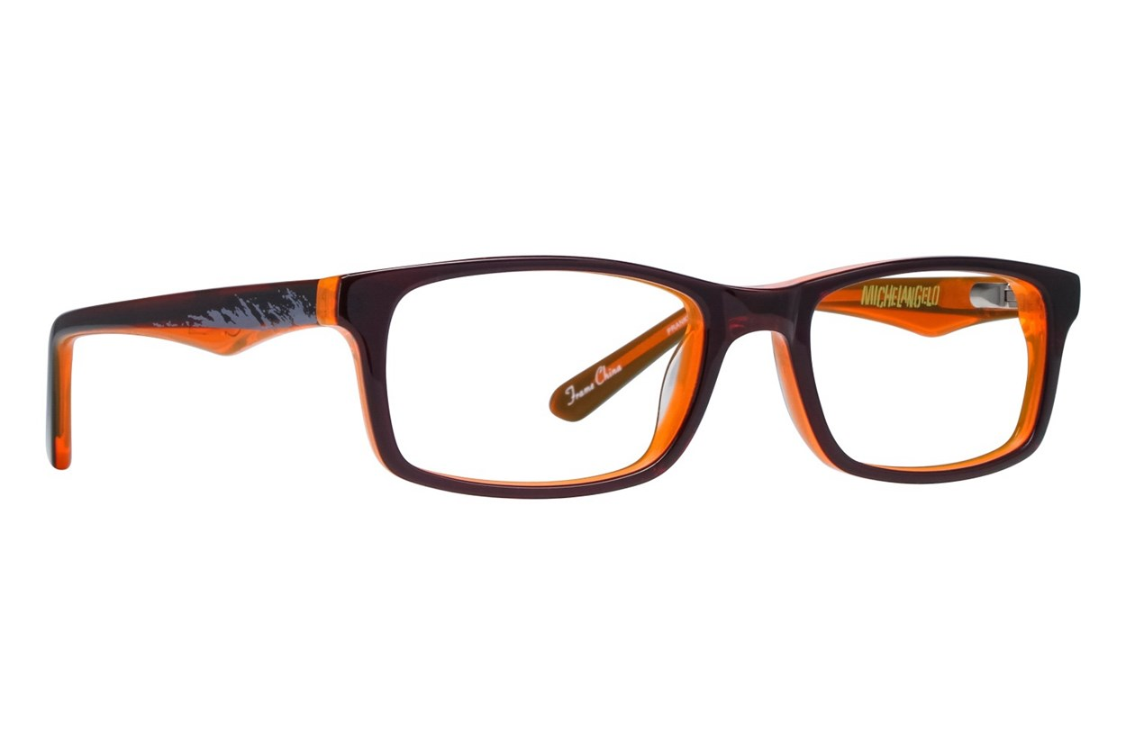 Nickelodeon Teenage Mutant Ninja Turtles Prankster Orange Eyeglasses