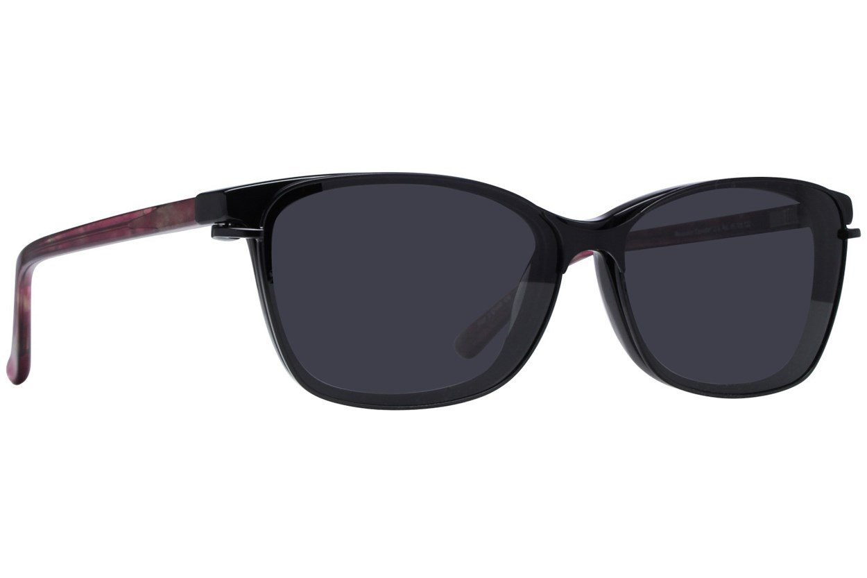 Alternate Image 1 - Revolution Savannah Black Eyeglasses