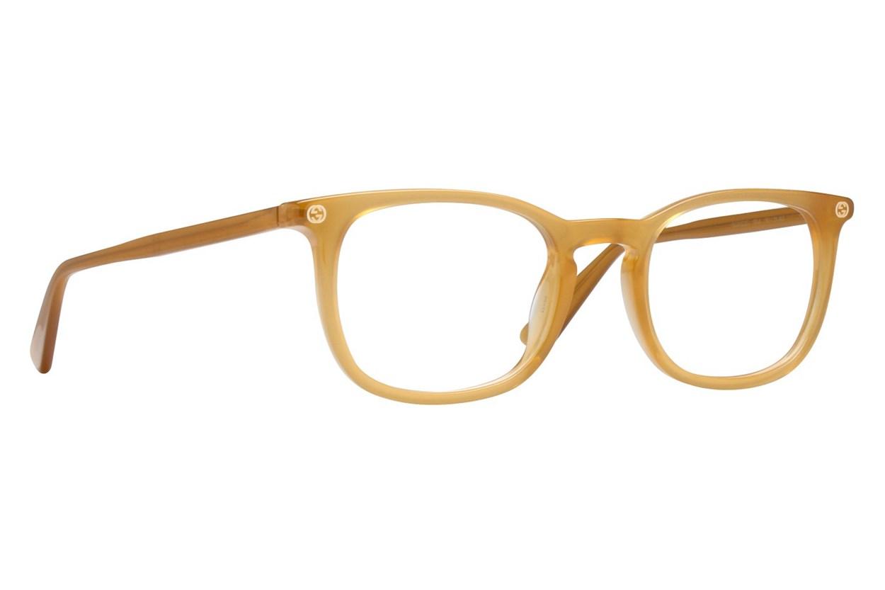 Gucci GG0122O Yellow Eyeglasses