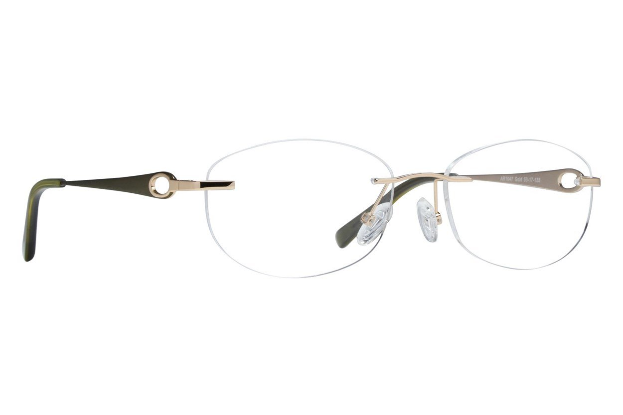 Arlington AR1047 Gold Eyeglasses
