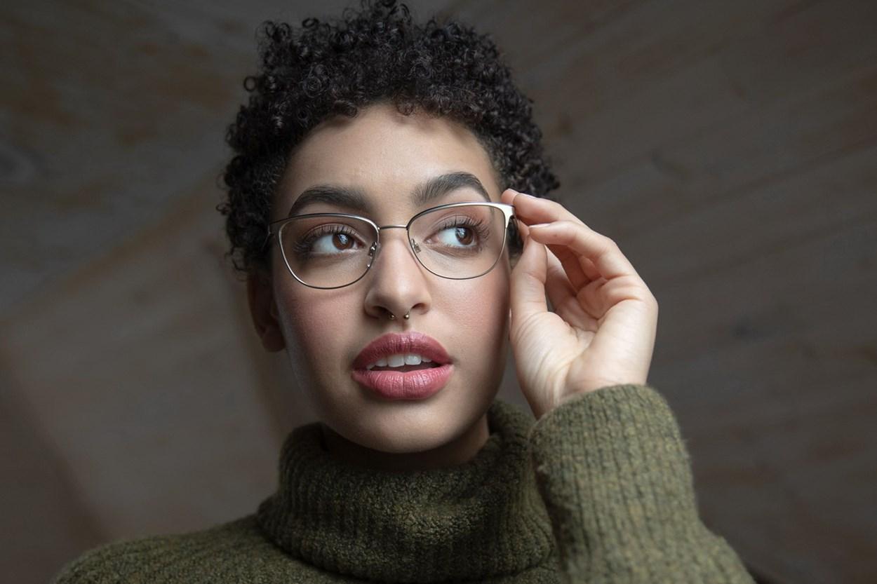 Lunettos Clara Gold Eyeglasses