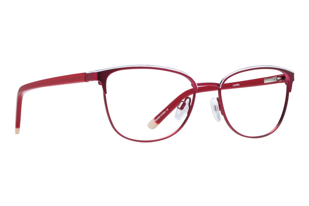 Lunettos Clara Red Eyeglasses