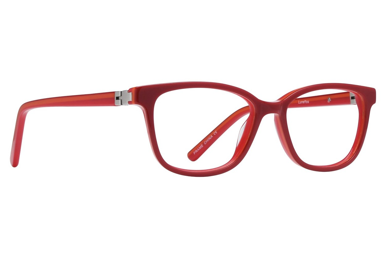 Lunettos Kerry Red Eyeglasses