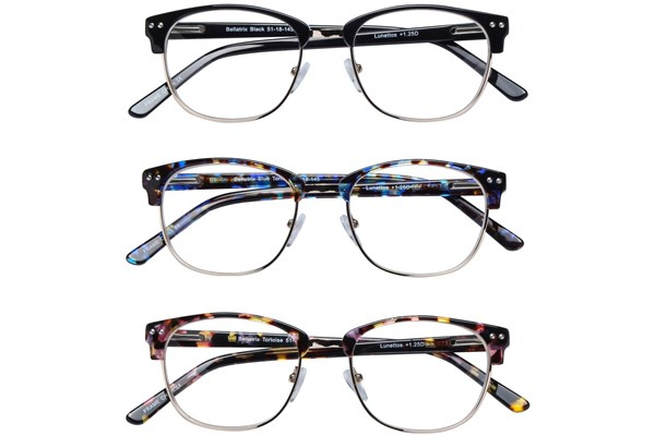 Lunettos Bellatrix Reading Glasses 3-Pack ReadingGlasses