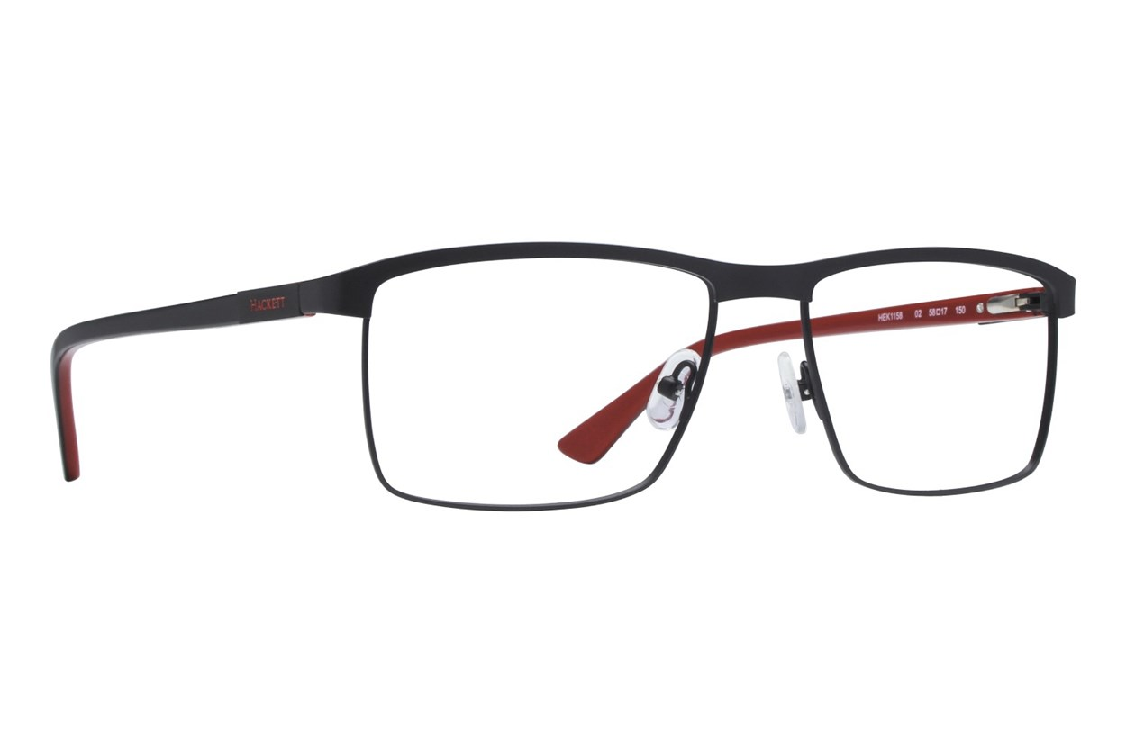 Hackett London Large Fit HEK1158 Eyeglasses - Black