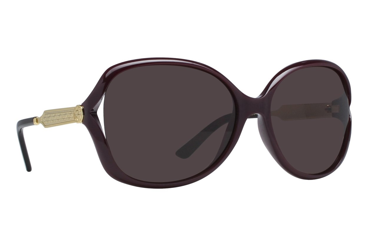Gucci GG0076S Wine Sunglasses