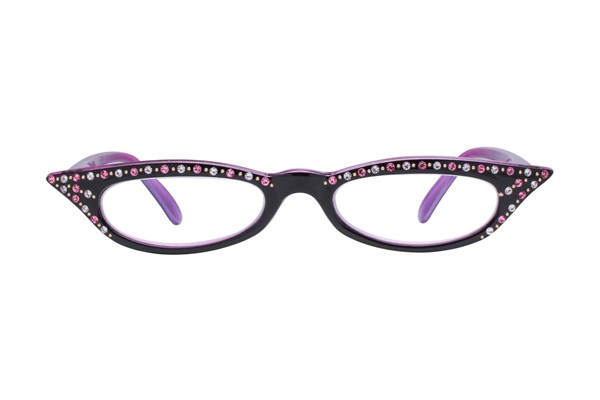 I Heart Eyewear Kitty Pink ReadingGlasses - Black