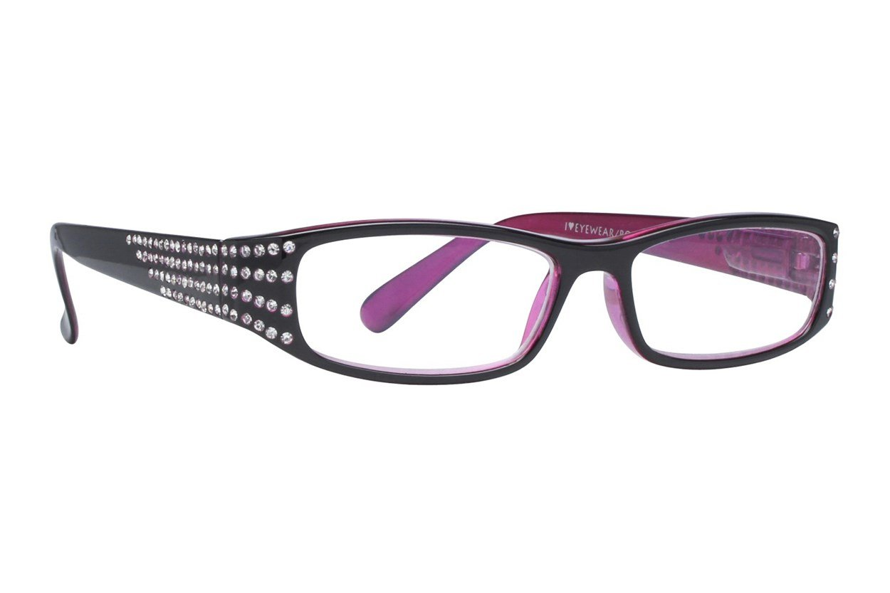 I Heart Eyewear Bling Black ReadingGlasses