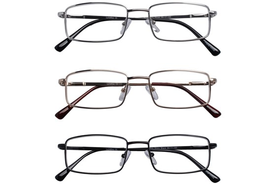 Lunettos Tate Reading Glasses 3-Pack