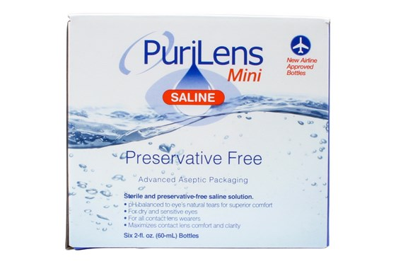 Purilens Mini Saline 6-Pack SolutionsCleaners
