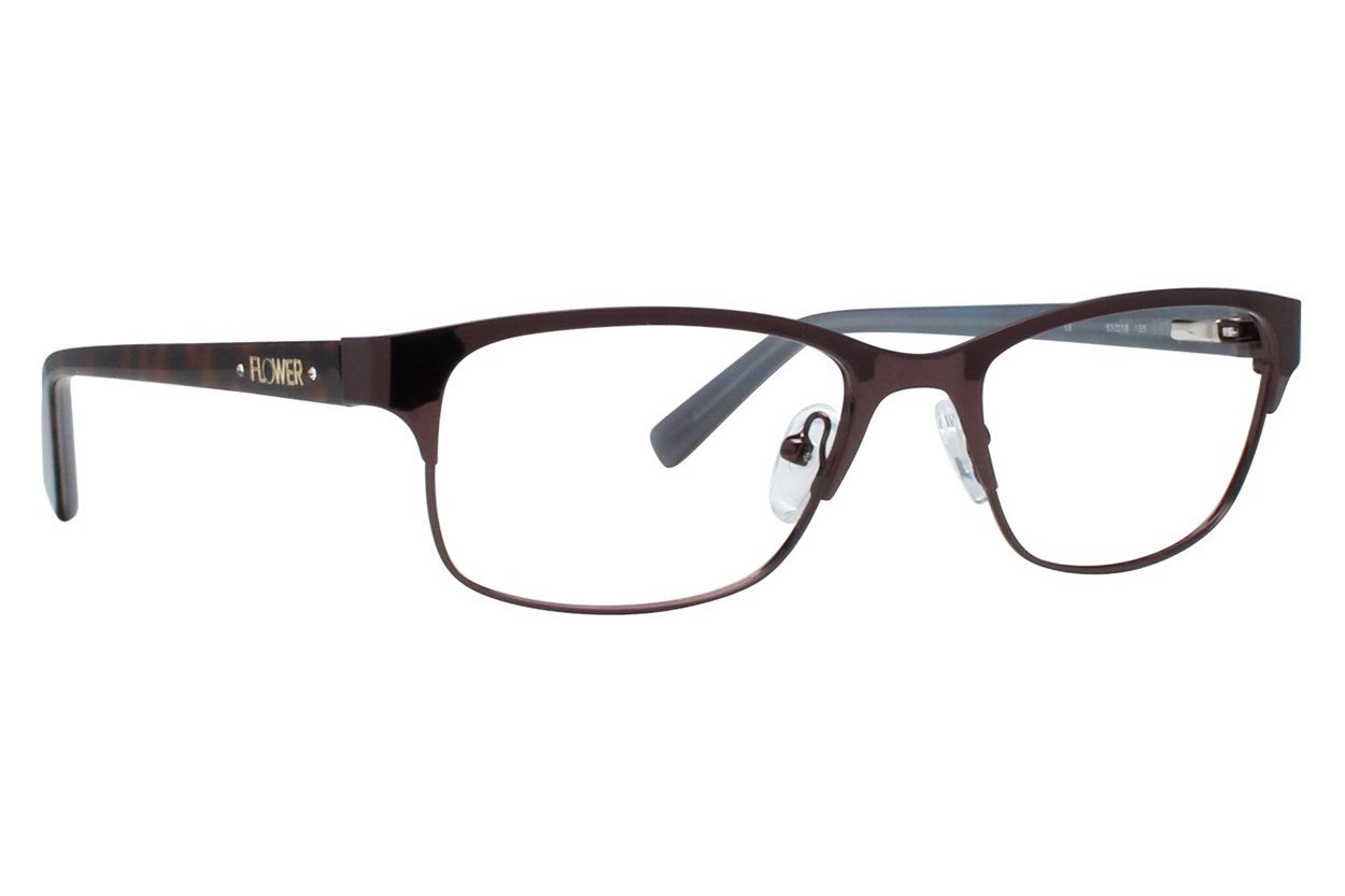 Flower Eyewear FLR6018 Brown Eyeglasses
