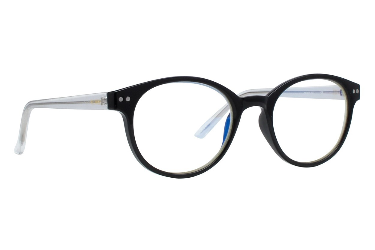 Flower Eyewear FLRBR102-Violet Black ComputerVisionAides