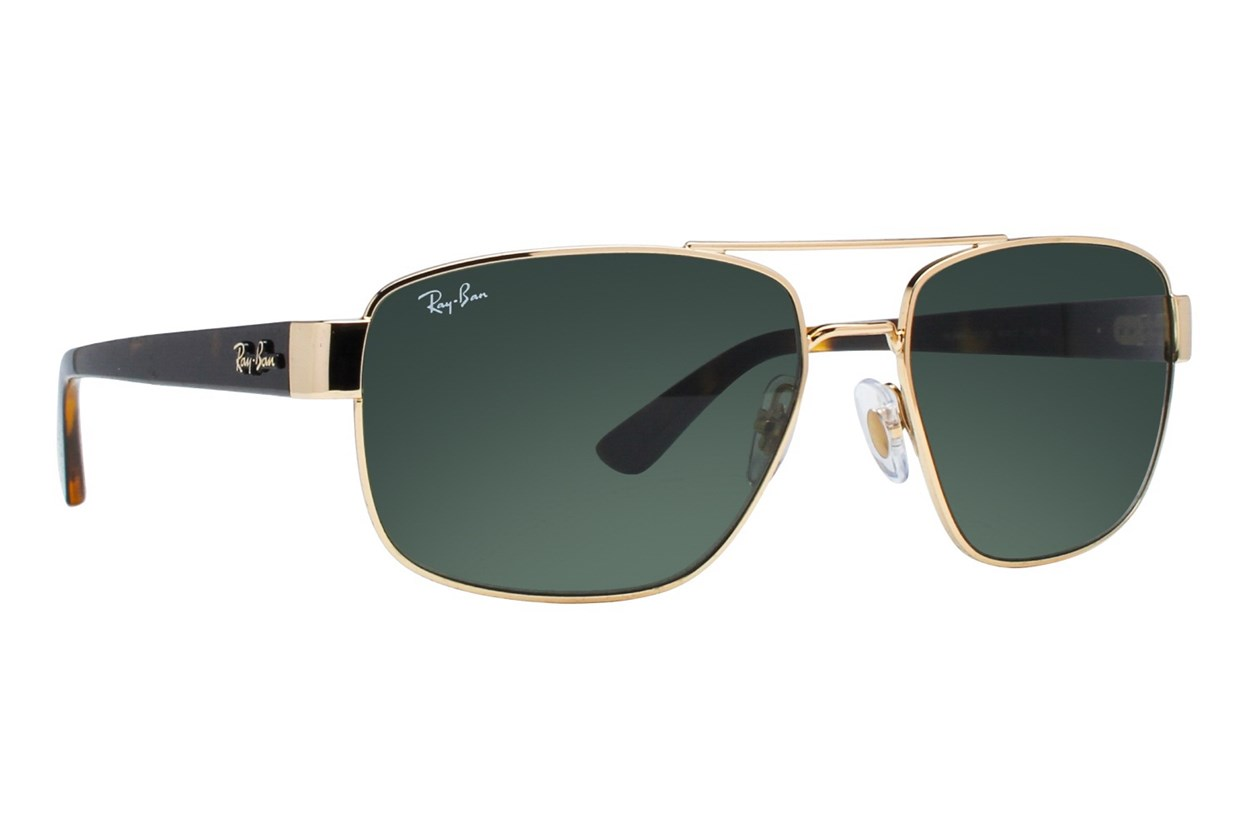 Ray-Ban® RB3663 Gold Sunglasses