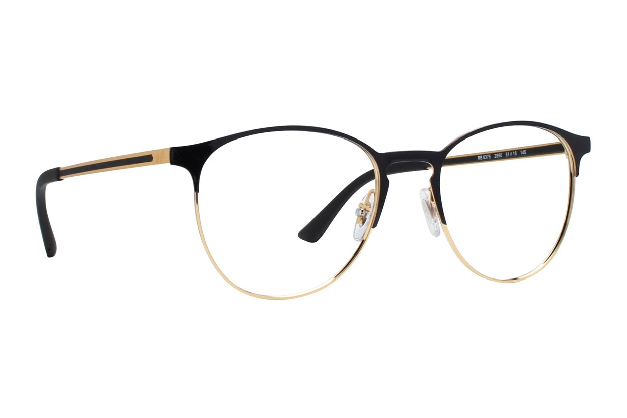 Ray-Ban® RX6375 Gold Eyeglasses