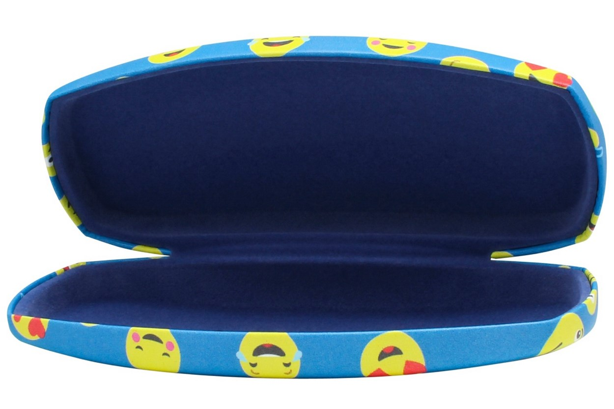 Alternate Image 1 - CalOptix Smiley Eyeglass Case Blue GlassesCases