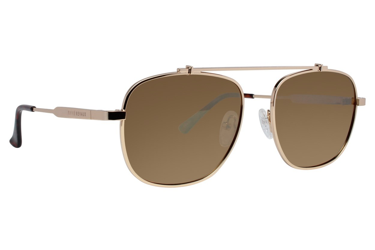 Prive Revaux Biscayne Bea Gold Sunglasses