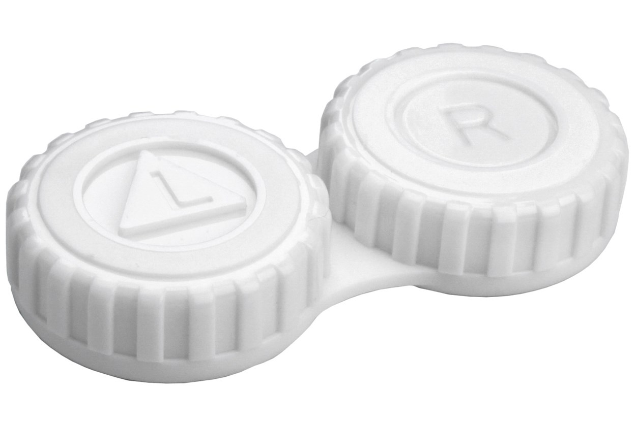 General Screw-Top Contact Lens Case White Cases