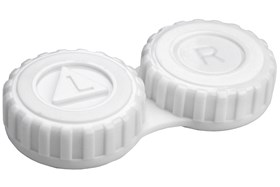 General Screw-Top Contact Lens Case White