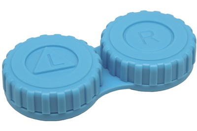 General Screw-Top Contact Lens Case Blue