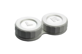 General Boilable Screw-Top Contact Lens Case White