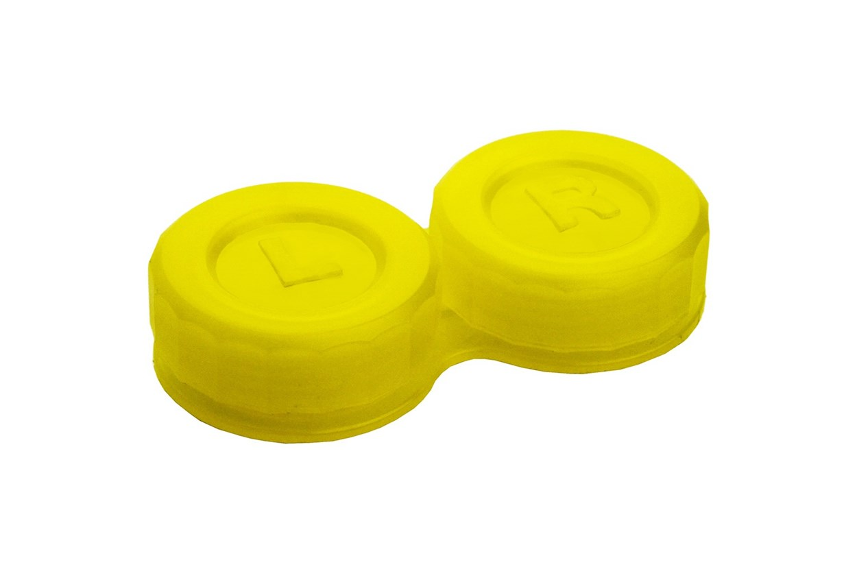 General Boilable Screw-Top Contact Lens Case Yellow Cases