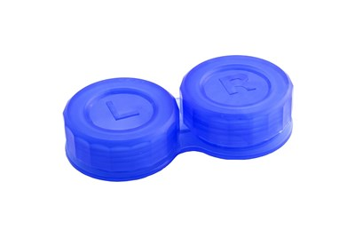 General Boilable Screw-Top Contact Lens Case Blue