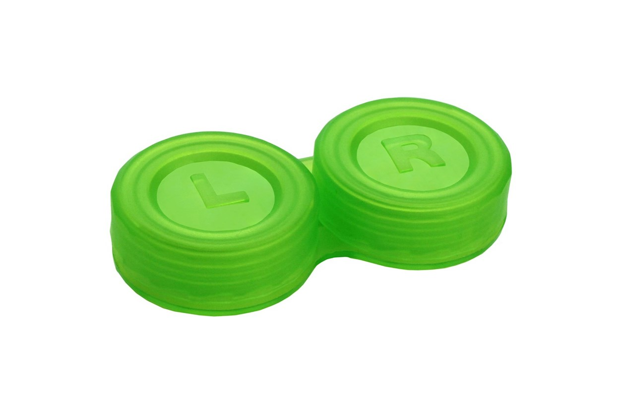 General Boilable Screw-Top Contact Lens Case Green Cases