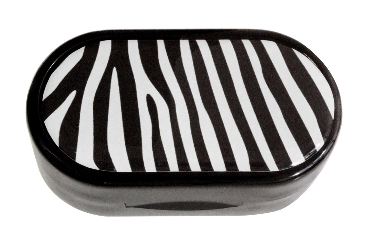 Amcon Zebra Designer Contact Lens Case Cases